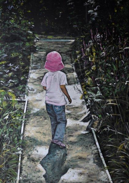 Rosa Hut auf Landesgartenschau, Gemälde